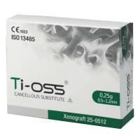 Остеозамещающий материал Ti-Oss, xenograft, 0,25 гр (0,6 куб. см) размер гранул 0,5-1,2 м